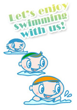 Let's enjoy swimming with us!